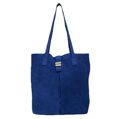Suede Metal Keepers Shopper Bag
