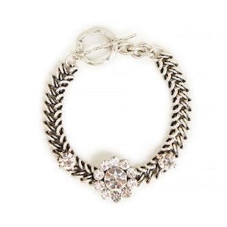 Flower Stone Chain Bracelet