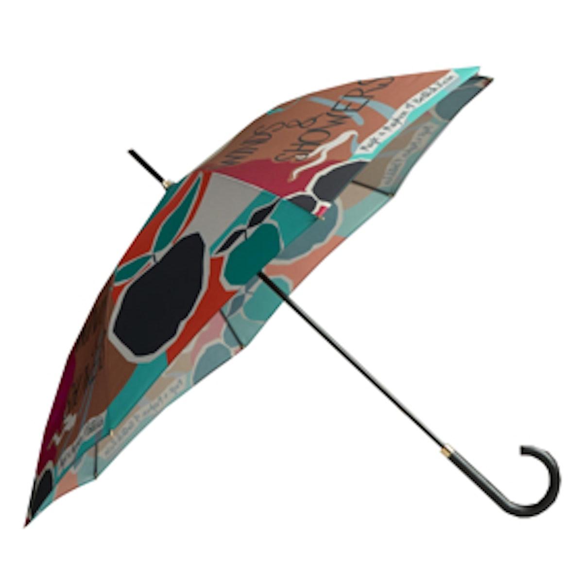 Book Cover Print Walking Umbrella