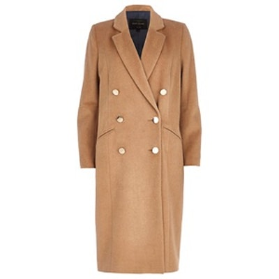 Double Breasted Camel Coat