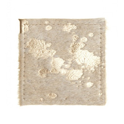 Gold Cowhide Coaster