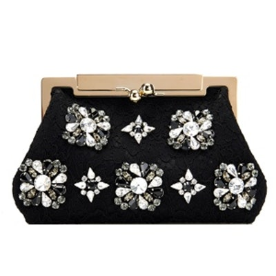 Lace & Crystal Clutch