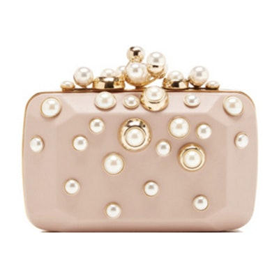 Small Pearl-Embellished Clutch