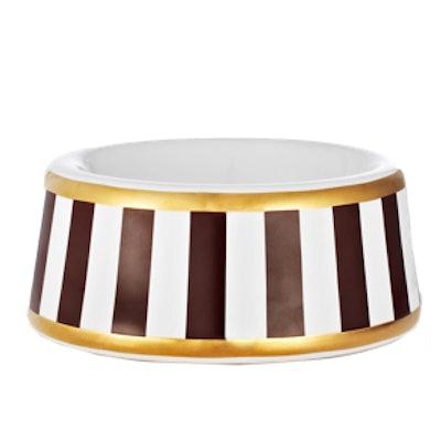 Stripe Dog Bowl