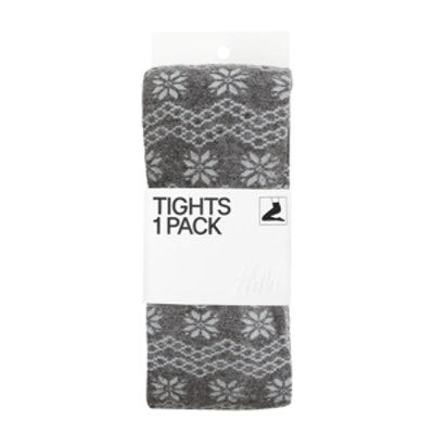 Jacquard-Knit Tights