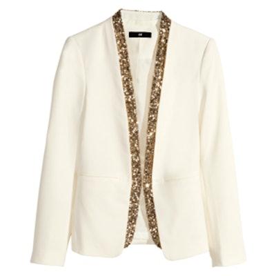 Sequined Trim Jacket