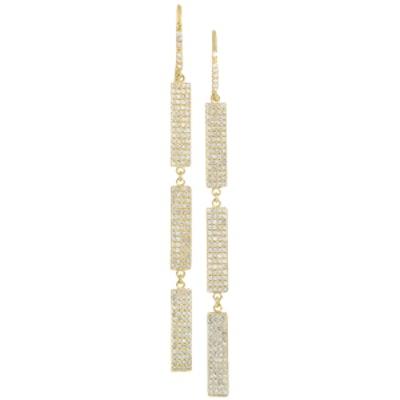 18-Karat Gold Diamond Drop Earrings