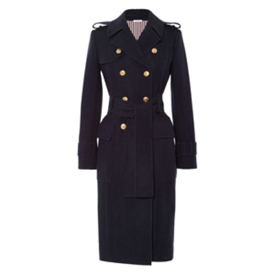 Melton-Wool Trench Coat