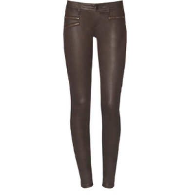 Coated Brown Jeans