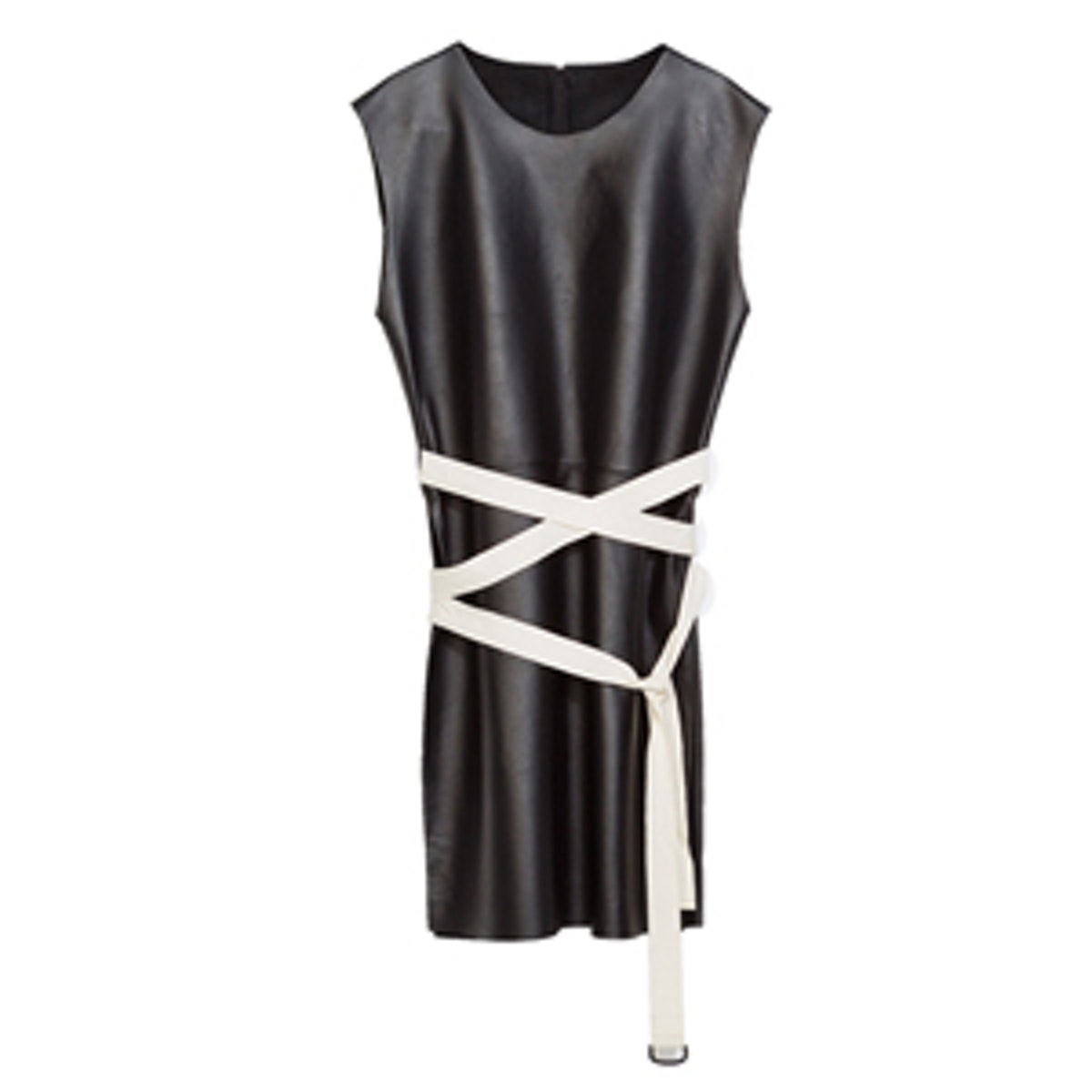 Leather Top With Slits