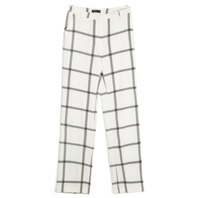 Check Crepe Trousers