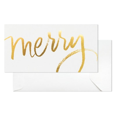Gold Merry Card