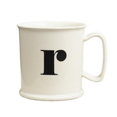 """""""R"""" Monogram Porcelain Mug"""