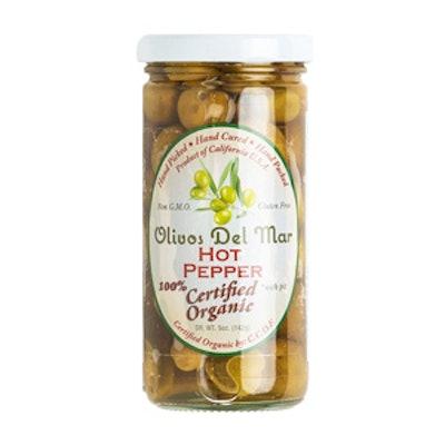 Organic Hot Pepper Olives
