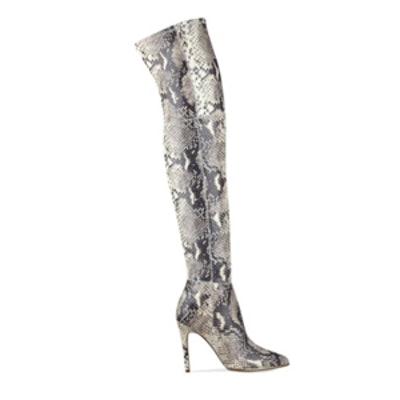 Over-The-Knee Lizard-Print Boot
