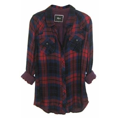 Kendra Tencel Plaid Shirt in Garnet