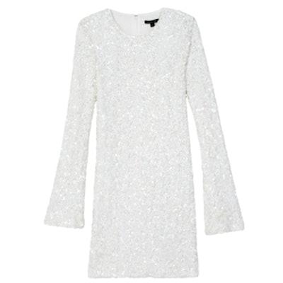 Bell-Sleeve Sequin Mini Dress