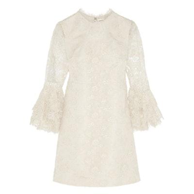 Guipure Lace Mini Dress
