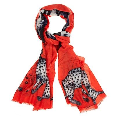 Cashmere Cheetah Scarf