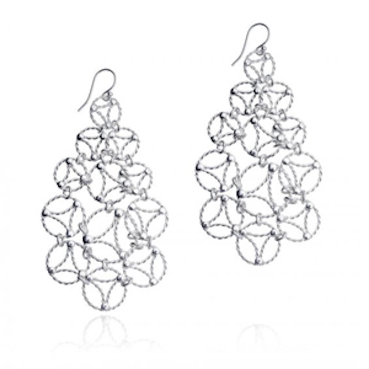 Abstract Chandelier Earrings