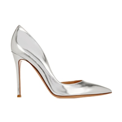 Metallic-Leather Pumps
