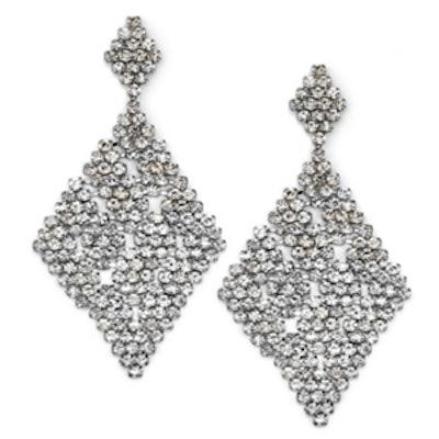 Silver Tone Chandelier Earrings
