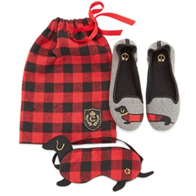 Buffalo Check Dog Travel Set