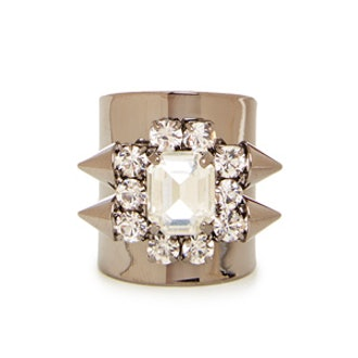 Spiked Crystal Jewel Ring