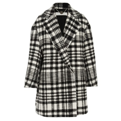 Oversize Checked Wool Coat
