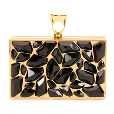 Crystal Brass-Ring Clutch