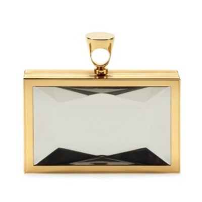 Faceted Brass Ring Clutch Bag
