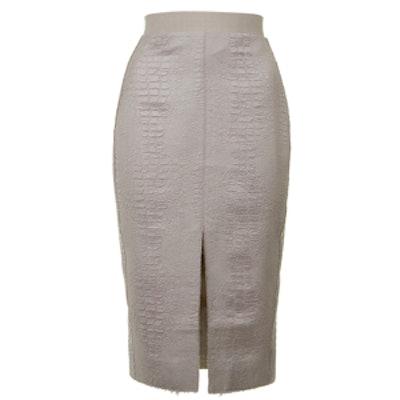 Snake Textured Pencil Skirt