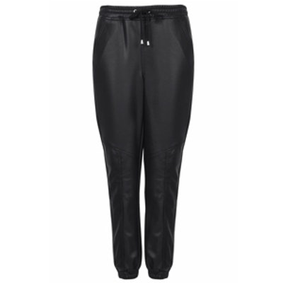Leather-Look Joggers