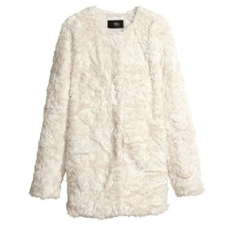 Satin Lining Faux Fur Coat