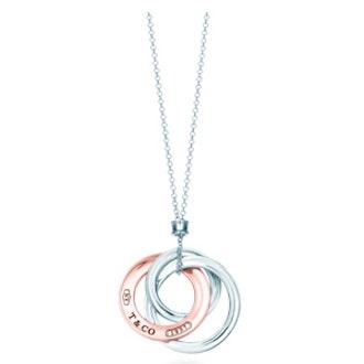 Tiffany 1837™ interlocking circles pendant in Rubedo® metal