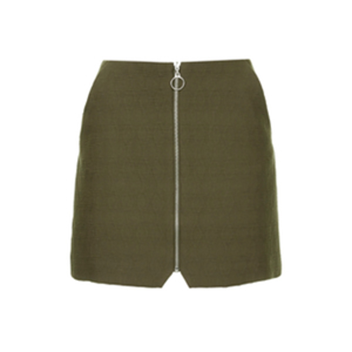 Quilted Zip Front Skirt