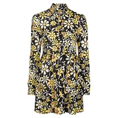 Daisy Print Shirt Dress