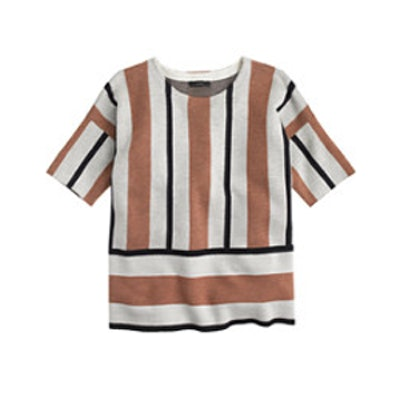 Stripe Short-Sleeve Sweater