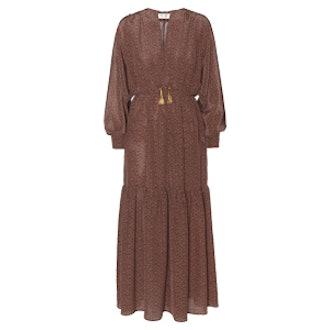 Floor-length Paisley Dress