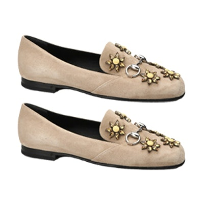 Kira Jeweled Suede Loafers