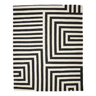 Small Scale Maze Dhurrie Rug