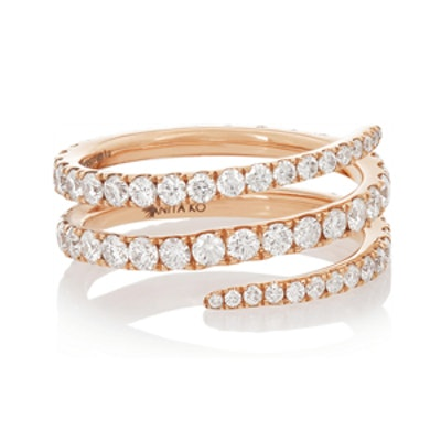 Rose Gold & Diamond Phalanx Ring