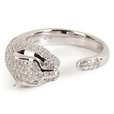 White Gold Cougar Ring