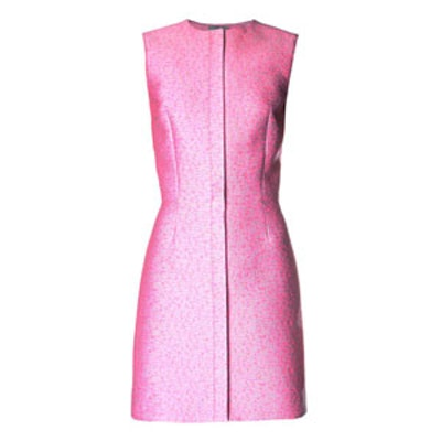 Tweed Jacquard Sleeveless Dress