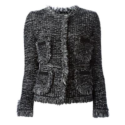 Woven Pockets Tweed Jacket