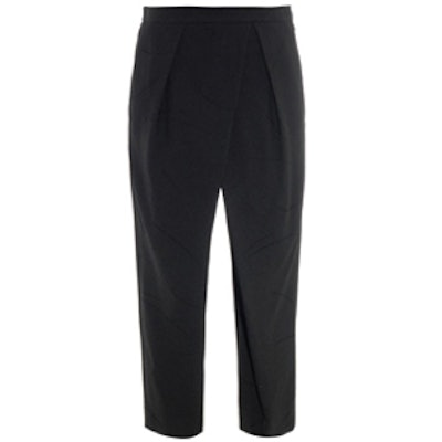 Draped-Front Cropped Trousers