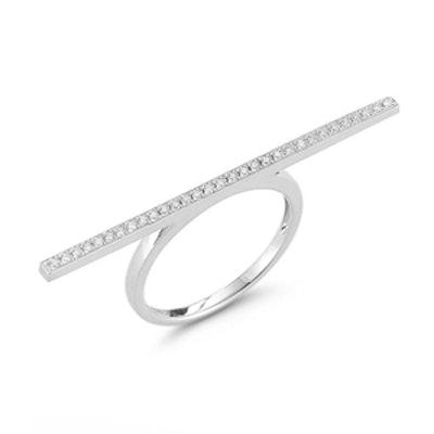 Sylvie Rose Long Bar Diamond Ring