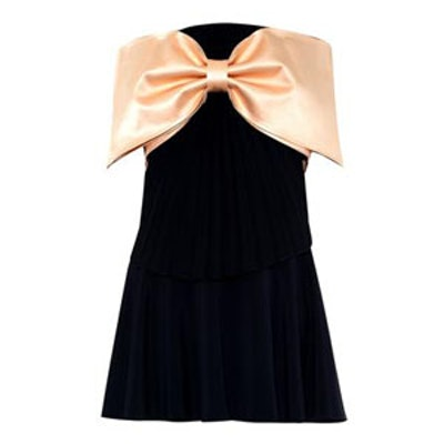 Bi-Color Bow Dress