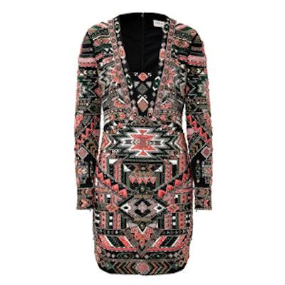 Beaded Navajo Print Dress