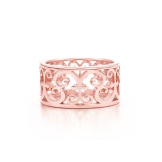 Tiffany Enchant® wide ring in Rubedo® metal